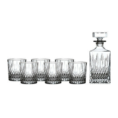 Royal Doulton Crystal Earlswood  7Pc  Decanter Set (Set Of 6 Tumblers )Rrp$299