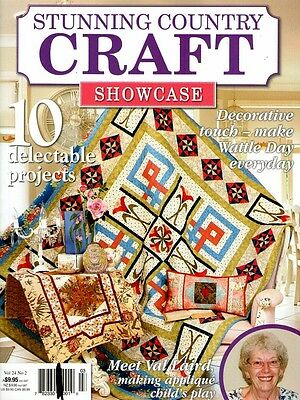 Stunning Country Craft Showcase  Magazine Vol 24 No 2  Pattern Sheet Attached