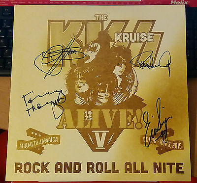Kiss Kruise V Exclusive Signed Lp Record Alive! Rare