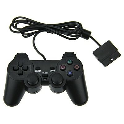 New Dual Shock Wired Analog Controller Joypad Gamepad for PS2 PlayStation2 Black