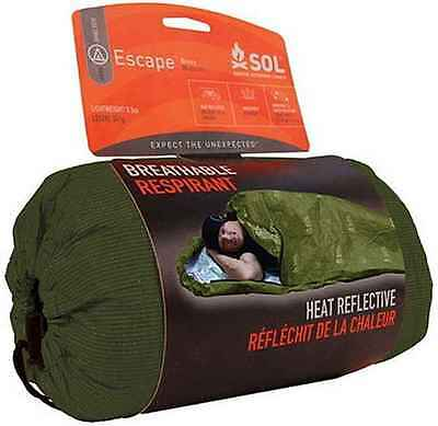 AMK SOL Escape Thermo Bivvy WATERPROOF Survival Sleeper- OD GREEN NEW
