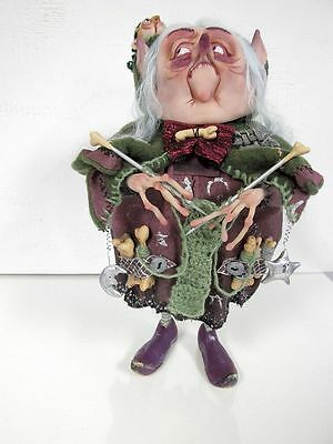 """""""Witch-Knitted"""" OOAK Art doll from Marina S"""