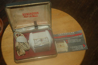 Remington Electric Razor Vintage Shaver Roll A Matic Worlds First Adjustable