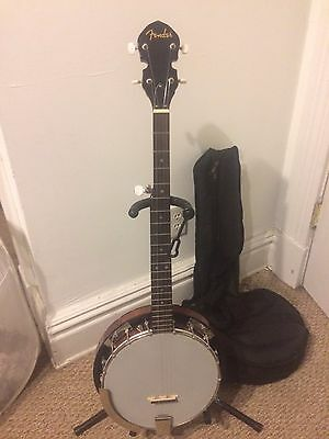 Fender FB-300 Banjo with Soft Case! Mint Condition!