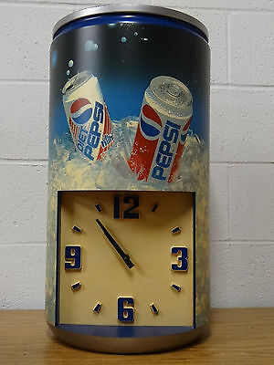 Vintage Pepsi and Diet Wall Clock Sign Cola Classic Blue