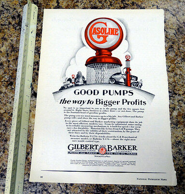 Gilbarco G&B 176 Visible Gas Pump Color Magazine Ad - 90 - FREE SHIPPING