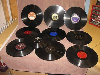 Lot of 10 Jazz & Big Band 78 RPM Records Various Artists VG+