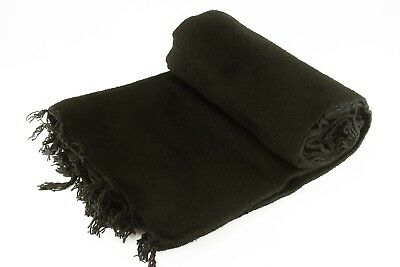 Black Solid Colored Premium Mexican Blanket