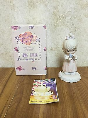 Precious Moments By Enesco Growing In Grace Age 9 Girl With Bird Figurine 183865