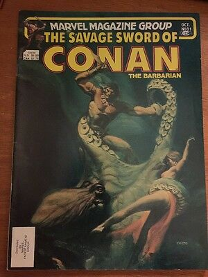 The Savage Sword of Conan the Barbarian #81 (1982) Marvel Magazine Comic VF