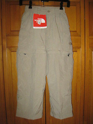The North Face convertible hiking pants girls S outdoors camping tan NWT NEW