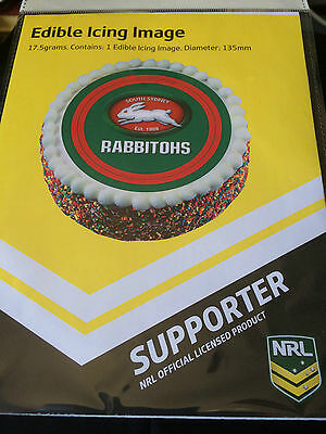 Official NRL South Sydney Rabbitohs Cake Topper