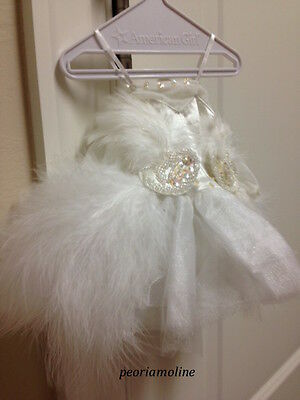 American Girl SWAN LAKE BALLET Outfit, White Feathers Retired, NEW