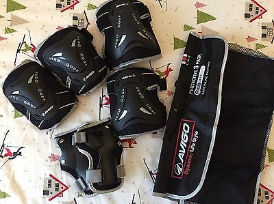 Kids Wrist Elbow Knee Pads Protection Avigo Dynamic 3 Pack Skating Scooter Bike