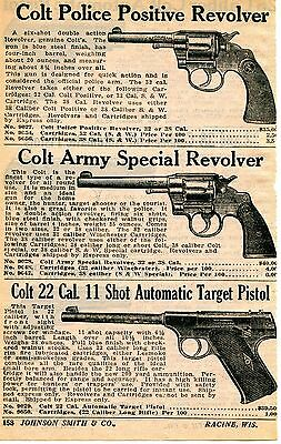 1929 small Print Ad Colt Police Positive Army Special Revolver & Target Pistol
