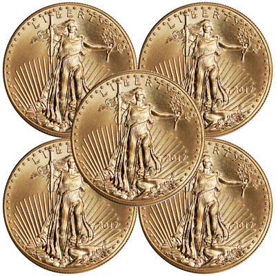 Lot of 5 - 2017 $5 American Gold Eagle 1/10 oz Brilliant Uncirculated