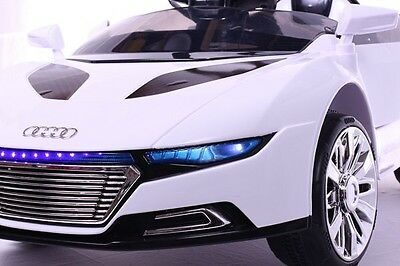 WHITE AUDI R8 ROADSTER STYLE 12V Children Electric Battery Powered Ride On Car