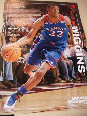 Andrew Wiggins Peyton Manning 2014 SPORTS ILLUSTRATED KIDS Double Sided POSTER