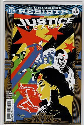 Justice League #10 Variant Yanick Paquette Cover (2016 DC) Rebirth 1st Print NM