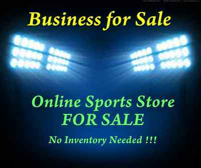 Established Online Sports Merchandise Website For Sale