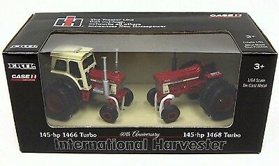 Ih 1466 & 1468 Turbo Tractors 40Th Anniversary Set Diecast Scale 1/64