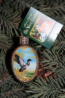 *Inside Art - Mallard Duck* Bird Hunting Old World Christmas Glass Ornament- NEW