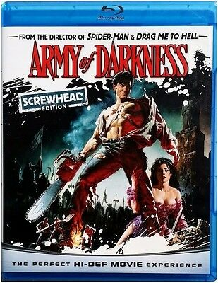 Army of Darkness: Screwhead Edition (Blu-ray) BRAND NEW