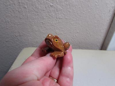 Frog, Hand carved Stone from the Andes. Richly Hued Miniature Stone Frog
