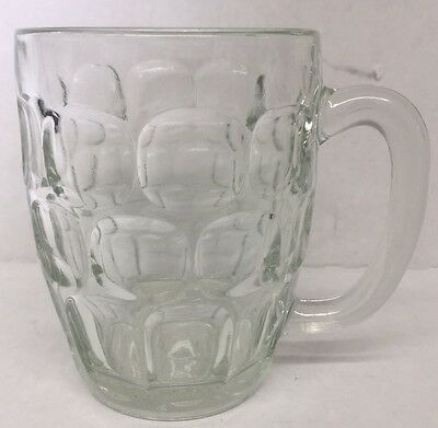 Vintage WINSTON Advertising Clear Glass 16 Ounce Thumbprint Beer Mug/Cup