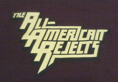 THE ALL-AMERICAN REJECTS band name tour concert shirt womens juniors small youth