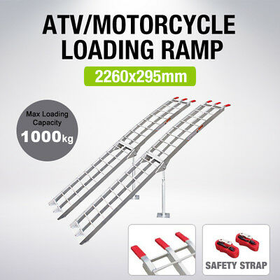 2X Aluminium Folding Loading Ramps MAX 1000KG ATV Mower Buggy Scooter Mobility