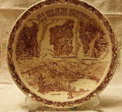 Vernon Kilns Old Man of the Mountains and Franconia Notch, NH Plate