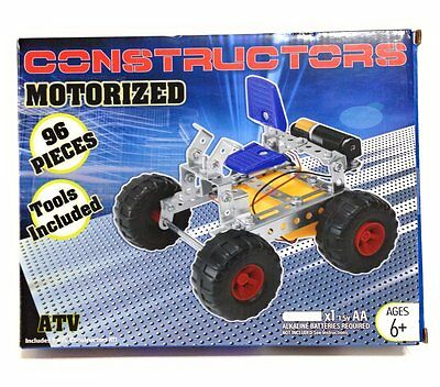 Constructors Motorized Atv Kit 96 Pc Includes Tools & Battery
