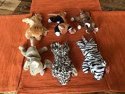 TY Beanie Babies - 6 Different Cats