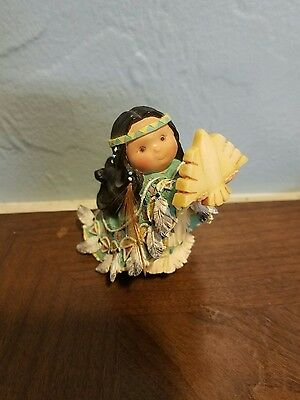 1996 Friends of a Feather ONE WHO LIFTS SPIRITS Little Indian girl with eagle