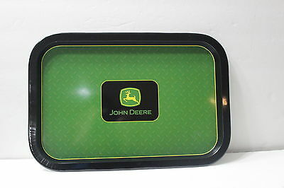 NEW John Deere Metal Serving Tray Kitchen Dinning Green & Black Logo Tractor NWT