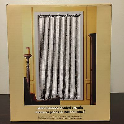Curtains Ideas bead curtain room divider : NEW Pier 1 Imports Dark Bamboo Beaded Curtain Natural Door Room ...