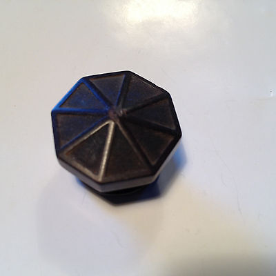 Vintage Radio Knob - Brown, spoke pattern