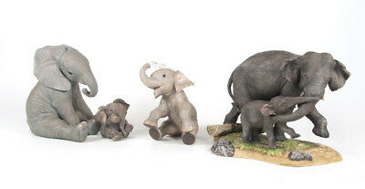 Lenox Wildlife of Seven Continents African Calf Tuskers Daisy Elephant Figurines