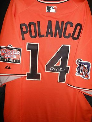 Placido Polanco Signed 2007 All Star Jersey Authentic Majestic Detroit Tigers