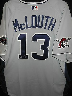 NATE McLOUTH SIGNED 2008 ALL STAR JERSEY AUTHENTIC MAJESTIC PITTSBURGH PIRATES