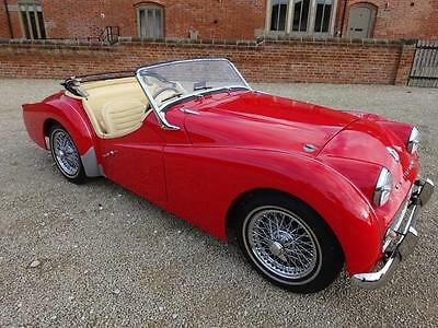 Tr3A 1991Cc 4 Speed Manual With Overdrive 1959 Red With Magnolia Interior