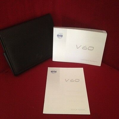 2014 Volvo V60 Owners Manual with quick guide and case