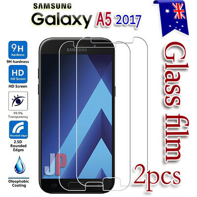 2x Samsung Galaxy A5 2017 Tempered Glass LCD Screen Protector Film Guard