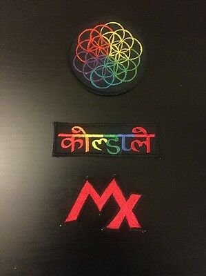 3 Embroidered Coldplay Sleeve/jackets Patch With AHFOD