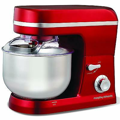 Brand New Morphy Richards Accents 400003 Stand Mixer - Red - RRP £149.99