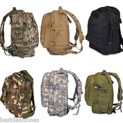 40L Outdoor Army Military Tactical Assault Bag Camping Hiking Backpack Rucksack