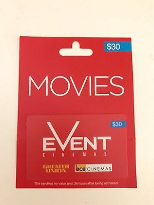 Event Movies Cinemas $30 Gift Card