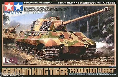 Tamiya 32536 1/48 Scale Model Heavy Tank Kit German King Tiger Production Turret