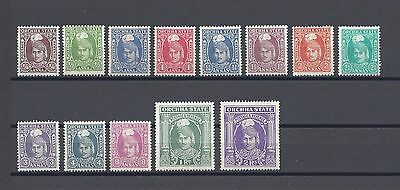 INDIA/ORCHHA STATE 1939-42 SG31/43 Mint Cat £238.50
